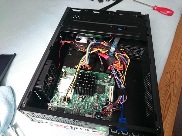 Server nach dem Einbau der Komponenten